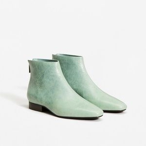 Mango pastel blue boots NEW WITH TAGS